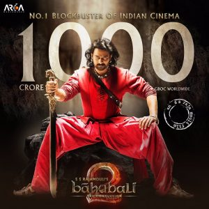 Baahubali 2 has collected #1000croreBaahubali