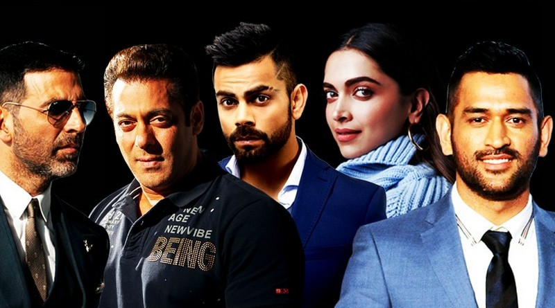 Топ-25 самых высокооплачиваемых знаменитостей из списка Форбс-100 для Индии.