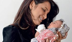 Diana Hayden with her baby girl