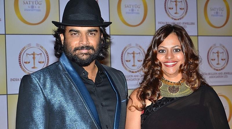 Мадхаван с женой