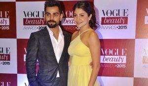 Virat Kohli and Anushka Sharma at the Vogue Beauty Awards 2015