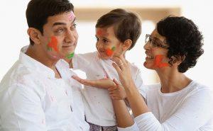 Аамир Кхан с семьей