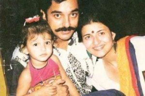 Сарика с мужем Камалом и дочерью Шрути
