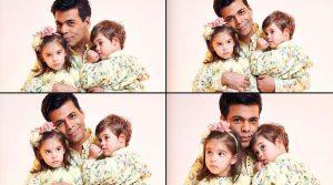 Каран Джохар с детьми Яшем и Рухи