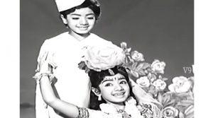Шридеви в фильме Naa Thammudu (1971) - 8 лет, двойная роль